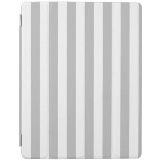 Gray and White Stripe Pattern iPad Cover