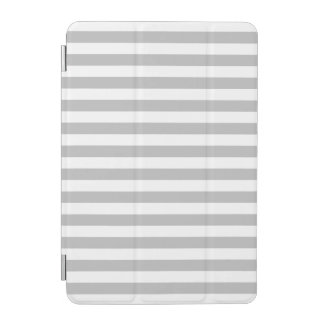 Gray and White Stripe Pattern iPad Mini Cover
