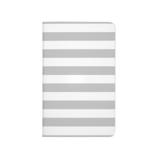 Gray and White Stripe Pattern Journal