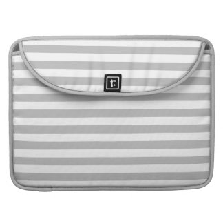 Gray and White Stripe Pattern MacBook Pro Sleeves