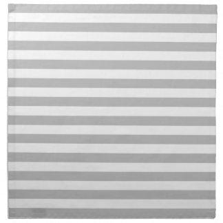 Gray and White Stripe Pattern Napkin