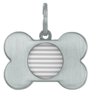 Gray and White Stripe Pattern Pet ID Tag