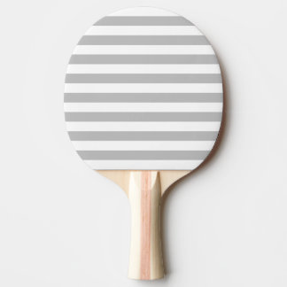 Gray and White Stripe Pattern Ping-Pong Paddle
