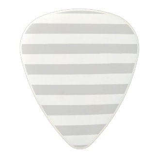 Gray and White Stripe Pattern Polycarbonate Guitar Pick