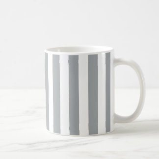 Gray and White Striped Mug
