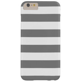 Gray and White Stripes Barely There iPhone 6 Plus Case