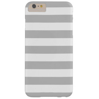 Gray and White Stripes Pattern Barely There iPhone 6 Plus Case