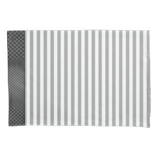 Gray And White Stripes Pillowcase