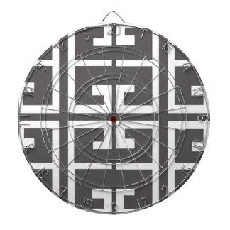 Gray and White Tile Dartboard