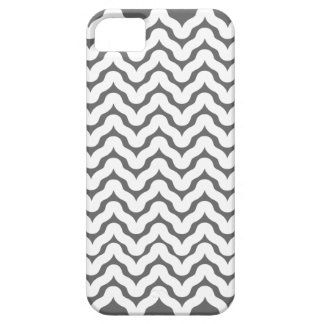 Gray and White Wavy Squiggles Pattern iPhone 5 iPhone 5 Cases