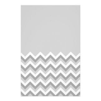 Gray and White Zig Zag Pattern Part Plain Gray Full Color Flyer
