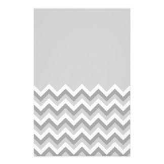 Gray and White Zig Zag Pattern Part Plain Gray Full Color Flyer