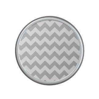 Gray and White Zigzag Chevron Pattern Bluetooth Speaker