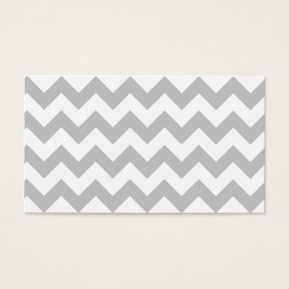 Gray and White Zigzag Chevron Pattern Business Card