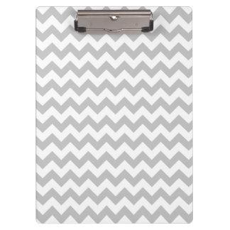 Gray and White Zigzag Chevron Pattern Clipboards
