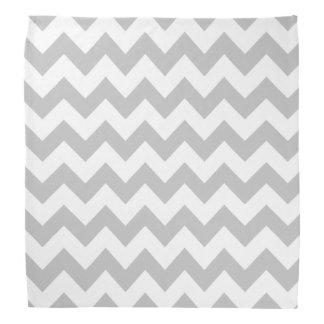 Gray and White Zigzag Chevron Pattern Do-rag