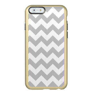 Gray and White Zigzag Chevron Pattern Incipio Feather® Shine iPhone 6 Case