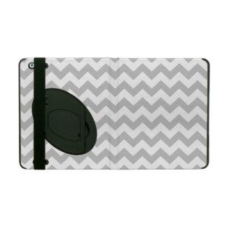 Gray and White Zigzag Chevron Pattern iPad Case