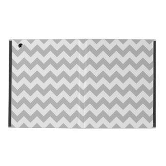 Gray and White Zigzag Chevron Pattern iPad Folio Case