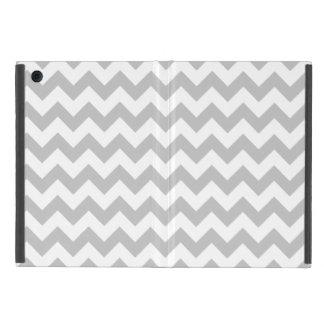 Gray and White Zigzag Chevron Pattern iPad Mini Case