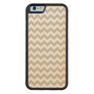 Gray and White Zigzag Chevron Pattern Maple iPhone 6 Bumper Case