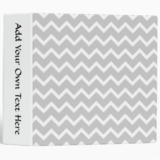 Gray and White Zigzag Stripes. 3 Ring Binder
