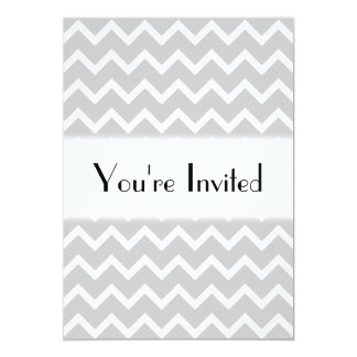 Gray and White Zigzag Stripes. Card