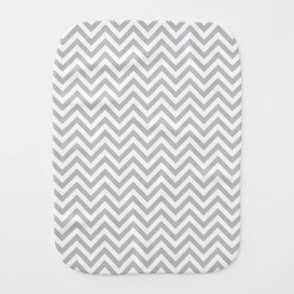 Gray and White Zigzag Stripes Chevron Pattern Baby Burp Cloths