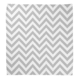 Gray and White Zigzag Stripes Chevron Pattern Bandana