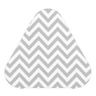 Gray and White Zigzag Stripes Chevron Pattern Blueooth Speaker
