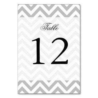 Gray and White Zigzag Stripes Chevron Pattern Card