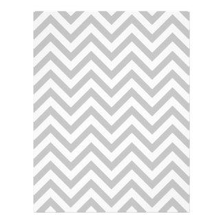 Gray and White Zigzag Stripes Chevron Pattern Flyer