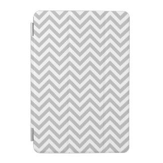 Gray and White Zigzag Stripes Chevron Pattern iPad Mini Cover