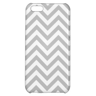 Gray and White Zigzag Stripes Chevron Pattern iPhone 5C Cases
