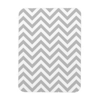 Gray and White Zigzag Stripes Chevron Pattern Magnet