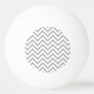 Gray and White Zigzag Stripes Chevron Pattern Ping Pong Ball