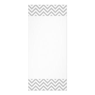 Gray and White Zigzag Stripes Chevron Pattern Rack Card