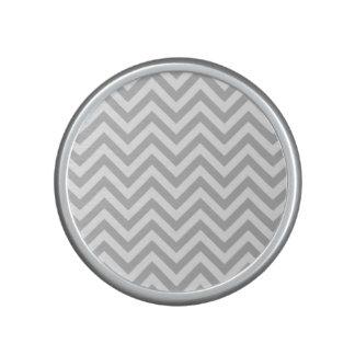 Gray and White Zigzag Stripes Chevron Pattern Speaker