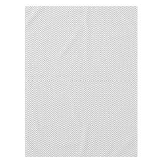 Gray and White Zigzag Stripes Chevron Pattern Tablecloth