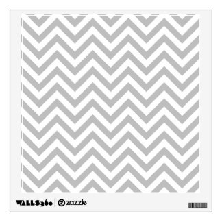 Gray and White Zigzag Stripes Chevron Pattern Wall Decal