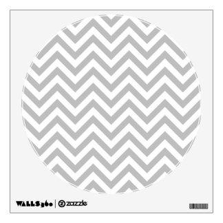 Gray and White Zigzag Stripes Chevron Pattern Wall Sticker