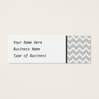 Gray and White Zigzag Stripes. Mini Business Card