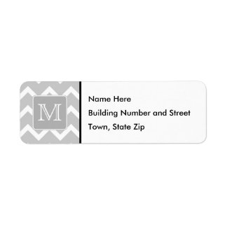Gray and White Zigzags with Custom Monogram.