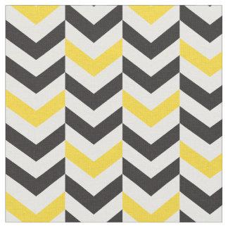 Gray and Yellow Chevron fabric