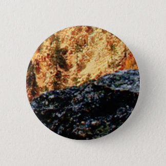 gray and yellow constrast 2 inch round button