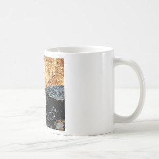 gray and yellow constrast coffee mug