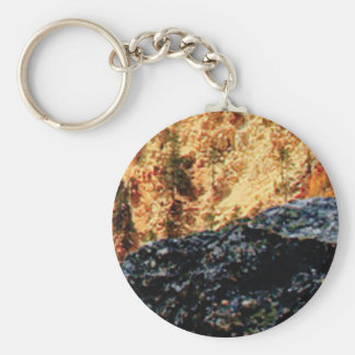 gray and yellow constrast keychain
