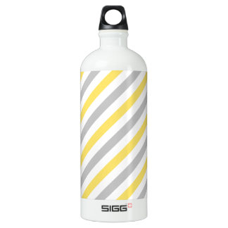 Gray and Yellow Diagonal Stripes Pattern
