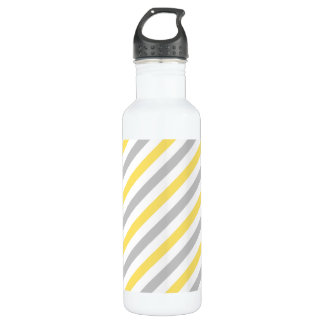 Gray and Yellow Diagonal Stripes Pattern