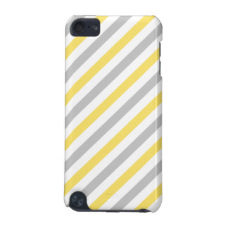 Gray and Yellow Diagonal Stripes Pattern iPod Touch (5th Generation) Cases